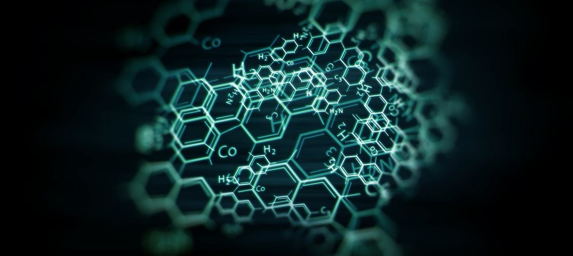 medical substance and molecules background