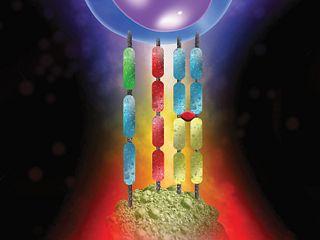 Digital rendering of killing of cancer cells