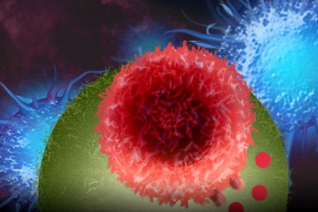 Abstract graphic image of cancer cells to represent the cancer models offered at Charles River