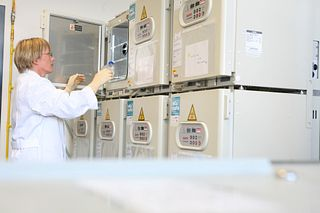 a laboratory checks stability storage conditions