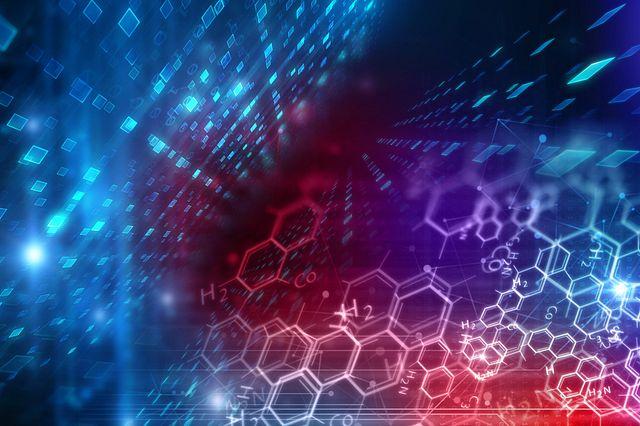 medical substance and molecules background illustration
