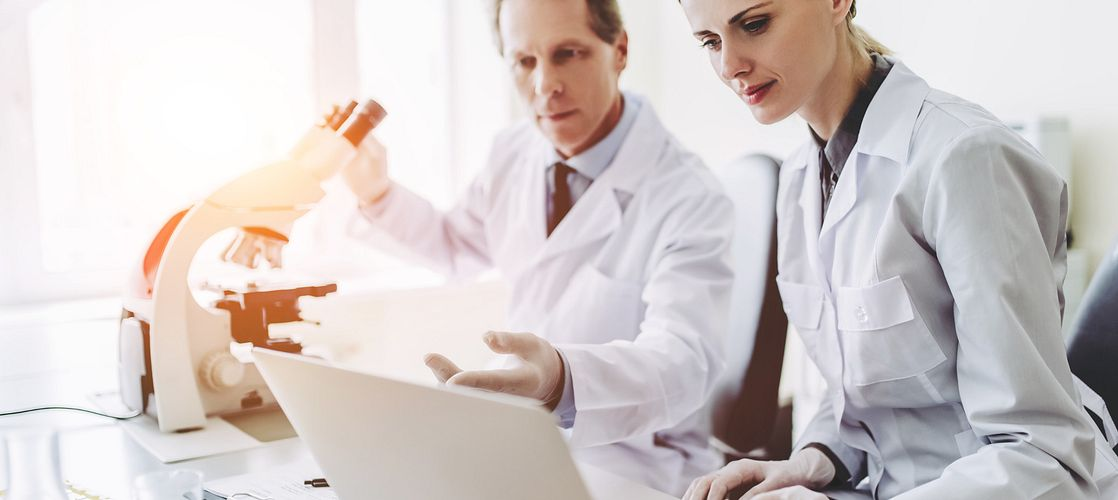 Scientists review the preclinical study design for a cellular therapy