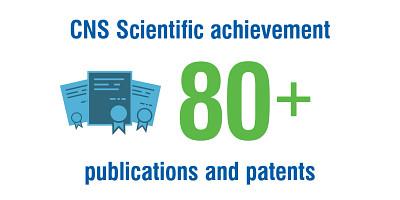 CNS scientific achievement 80+ publications and patents.