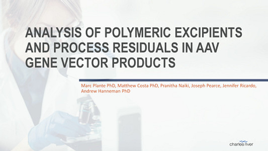 Thumbnail of Analysis of Polymeric Excipients and Process Residuals in AAV Gene Vector Products.