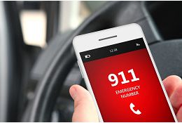 phone showing 911