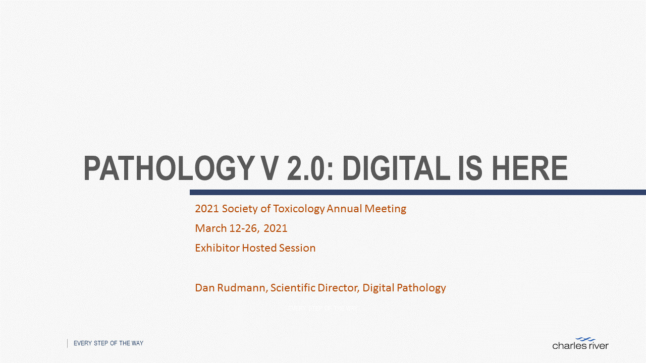 Screen shot of Pathology V 2.0: Digital is Here presentation.