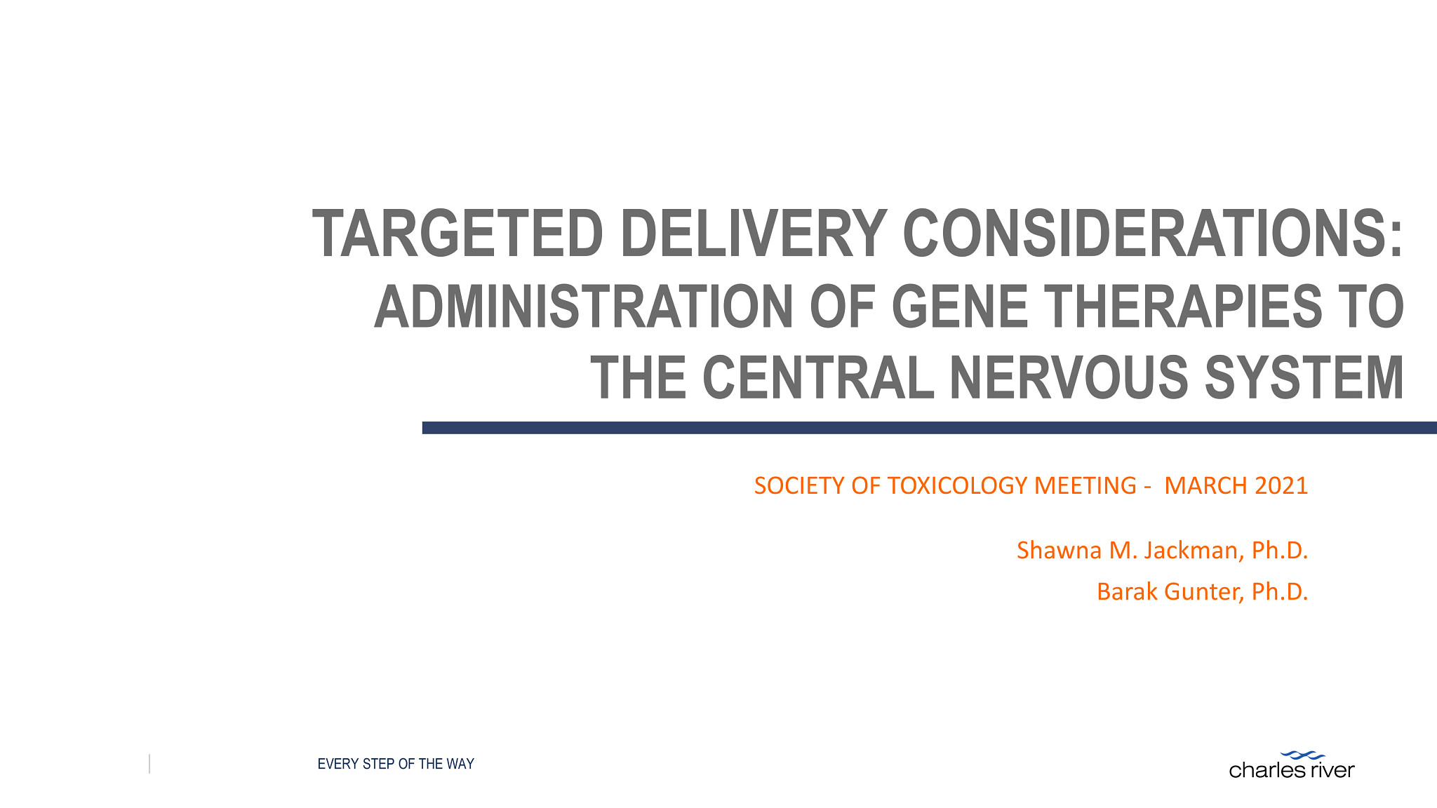 Screen shot of Targeted Delivery Considerations for Administrations of Gene Therapies to the Central Nervous System